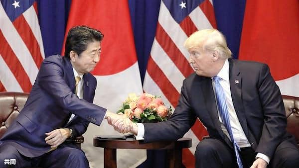 米防衛装備品の購入に意欲 首相、トランプ氏に伝達