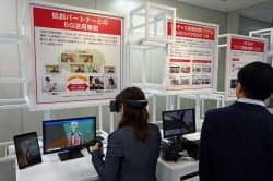 ドコモが14日、大阪・梅田に開設した5G協業実験施設「ドコモ5GオープンラボOSAKA」