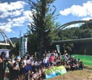 前橋への移植を控え、サクラの見学会が行われた(群馬県長野原町)