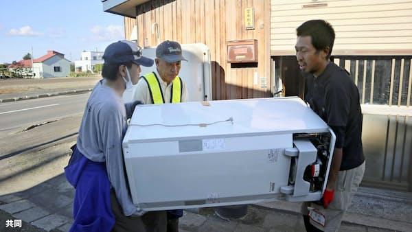 地震被災地も台風警戒 災害ごみ、片付け急ぐ