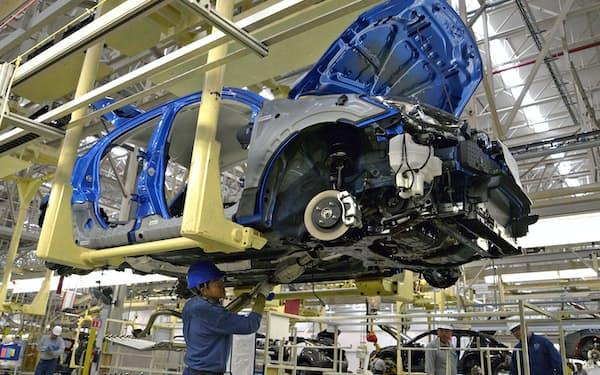 日系自動車メーカーはカナダとメキシコを米国向けの生産拠点に位置づけてきた(マツダのメキシコ工場)