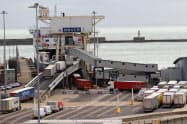 EU離脱で混乱が懸念される英ドーバー港(9月28日)