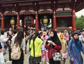 訪日客に人気の浅草寺がある台東区は文化・交流分野で高スコアを獲得し、7位に入った