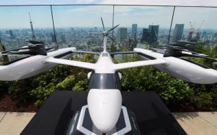 ウーバーの「空飛ぶタクシー」の模型