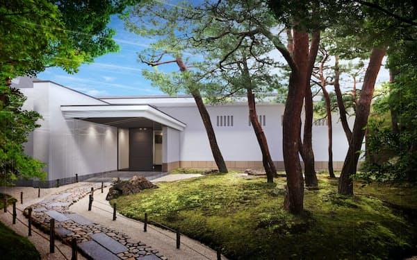 足立美術館「魯山人館」の完成イメージ図