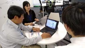 時短勤務をする社員も仕事に多く携わり、やりがいをもって働く。