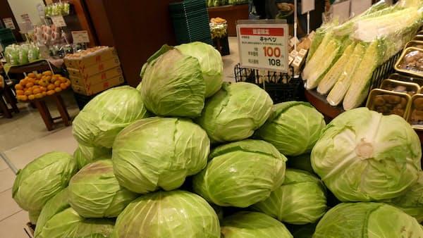 野菜、台風の塩害で値上がりも 関東・東海の沿岸産地