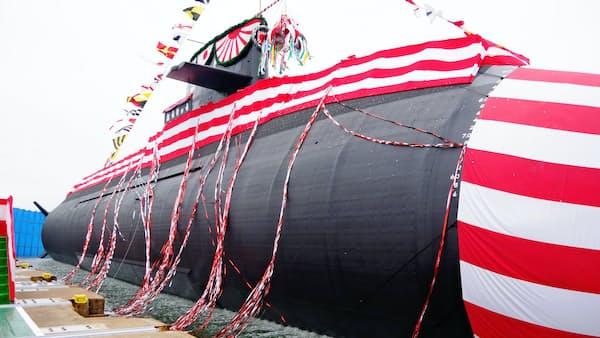 三菱重工の最新鋭潜水艦「おうりゅう」が進水