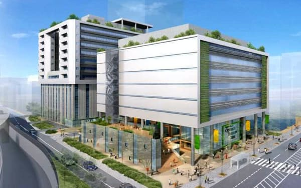 新病院の完成イメージ