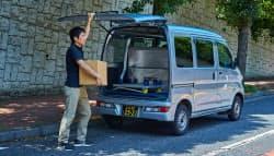 本業の弁当配達の空き時間に荷物を配送する