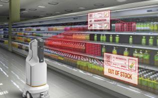 開発中のロボットはスーパーの店内を巡回し、棚に並んだ飲料や食品に取り付けられた値札をチェックする(写真はイメージ)