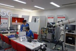 NTTドコモが協業先と5Gを活用したサービス作りのために4月に開設したドコモ5GオープンラボYotsuya」(東京・新宿)