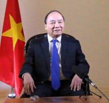 ベトナムのフック首相はTPP11の参加国拡大にも期待感を表明した(6日、ハノイ市内)