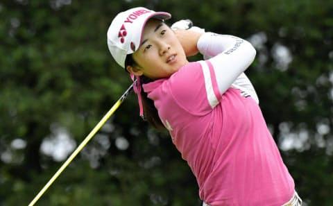 山口は日本選手史上最年少の14歳で全米女子オープンに出場、海外志向が強い=共同