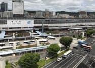 JR岡山駅東口広場の整備に際しては年度内にデザイン案をまとめる(岡山市)
