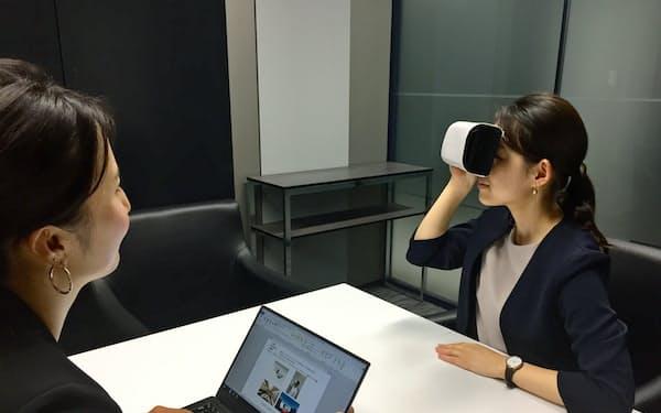 日本航空はアジアの一部支店でVRを使った営業を実験中だ