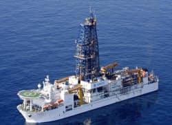 海洋研究開発機構の探査船「ちきゅう」(同機構提供)=共同