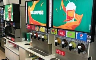 米セブンでは「スラーピー」をほぼ全店に設置している