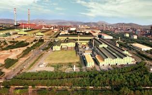JFEスチールが出資するJSWスチールのビジャヤナガール製鉄所(インド南西部カルナタカ州)