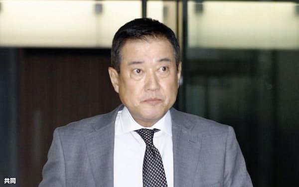 3度目の巨人監督就任に前向きな姿勢を見せた原辰徳氏(10日、東京・大手町)=共同