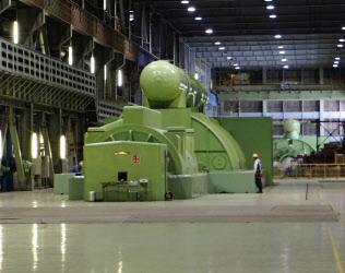 再稼働した苫東厚真火力発電所の2号機のタービン設備