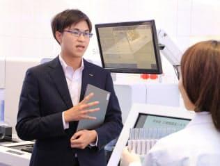 理系出身で事業企画などの仕事をするシスメックスの井上裕毅さん(神戸市西区)