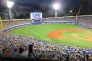 横浜スタジアムの動員率は97.4%と限界に達している