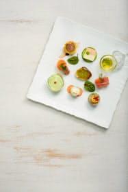 信州サーモン、シャインマスカットなど長野県産食材を使った冷前菜