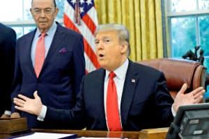 トランプ米大統領はFRBの利上げを改めて批判した=ロイター