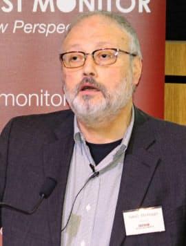 サウジアラビアの著名記者ジャマル・カショギ氏(9月29日、ロンドン)=ロイター