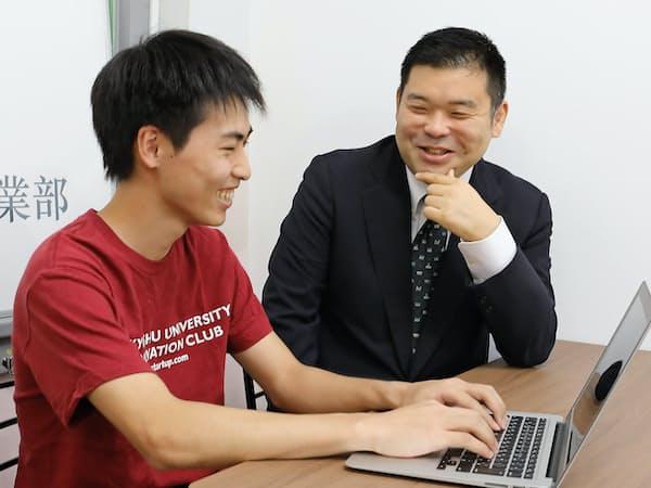 九大起業部の熊野正樹顧問(九大准教授)