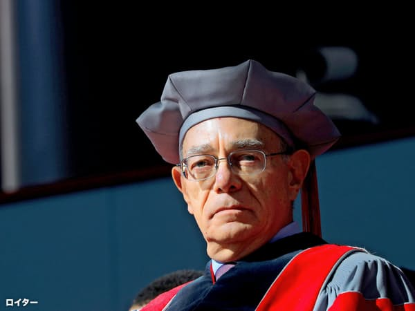 MITのラファエル・リーフ学長(5日)=ロイター