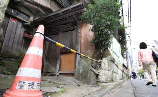積水ハウスが約55億円の詐欺被害に遭った事件の舞台となった旅館跡地(16日、東京都品川区)
