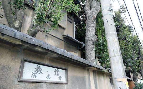 積水ハウスが詐欺被害に遭った事件の舞台となった旅館跡地(16日、東京都品川区)