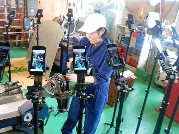 アマテラスと連携し、県立熊谷高等技術専門校で技術指導用動画を撮影した(9月、埼玉県熊谷市)