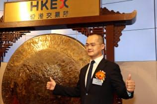美団点評の王興CEOは中国を代表する連続起業家になった(9月20日、香港)