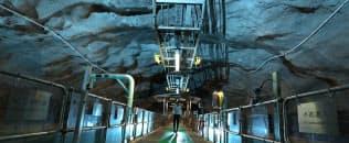 香港島のスタンレー汚水処理場。生活インフラを地下に置くことで地上の居住空間を最大化する=今井拓也撮影