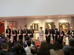 岸田政調会長らが出席しテープカットを行った(広島市)