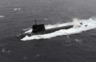 日本の潜水艦は静粛性で優位に立つ(海上自衛隊提供)=ロイター