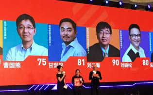 起業家のプレゼンが採点されるスタートアップ投資イベント(9月、杭州)