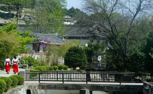 ソウルに近い開城は首都の候補地に(開城市内の様子、現代峨山提供)