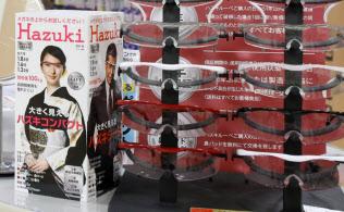 家電量販店のカウンターに「ハズキルーペ」を置き、認知度を上げた(横浜市のエディオンモザイクモール港北店)
