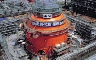 東芝とIHIは1960年代から原子力発電事業で協力関係にある(IHIが東芝に供給している原子炉格納容器)