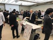 中小企業が自社の製品やサービスを紹介した(19日、東京都江東区)