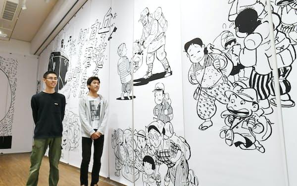 漫画展「ヘイセイ」を企画制作した京都造形芸術大の学生(京都市左京区)