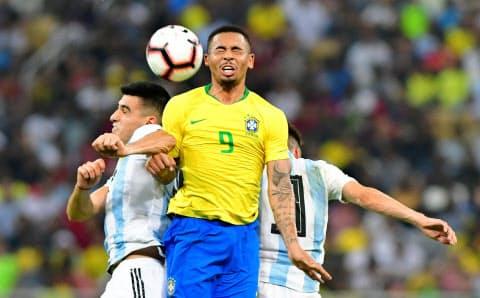 ガブリエルジェズス(中)の今後の成長がブラジル代表の成績を左右しそうだ=ロイター