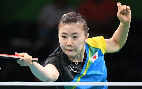 リオ五輪卓球女子シングルスに出場した福原愛選手(2016年)