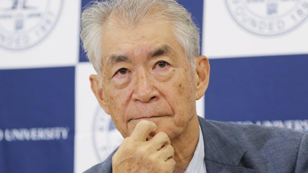 日本の大学の成果は米企業に 本庶氏「見る目ない」