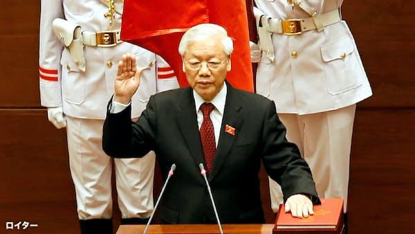 ベトナム、書記長が国家主席を兼務 集団指導体制は継続か