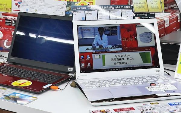 国内パソコン出荷額が上半期で3千億円を超えるのは4年ぶりだ(写真は東芝のノートパソコン)